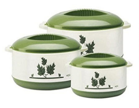 Buy Milton Orchid Junior Insulated Casserole Set, 3,Pieces, Green from Amazon at Rs 499 Only
