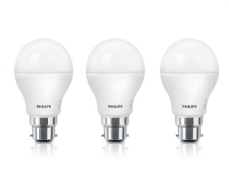 Buy Philips 7 W Standard B22 LED Bulb  (White, Pack of 2) from Flipkart at Rs 195 Only