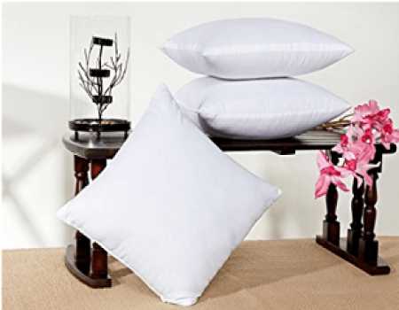 Buy Hemden Plain Back Cushion Pack of 5 (White) at Rs 248 from Flipkart