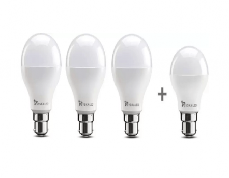 Buy Syska 8 W Standard B22 LED Bulb (White, Pack of 4) At Rs 369 Amazon