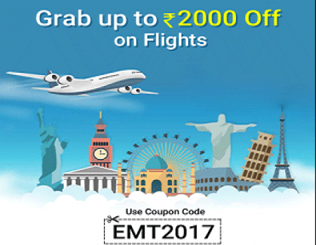 Easemytrip Coupons & Offers: Rs.2,000 OFF on Flight Bookings November 2017