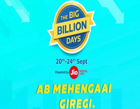 Flipkart Big Billion Days 2017 Sale 20-24th Sep LIVE: Best Offers on Mobiles, 10% SBI cards