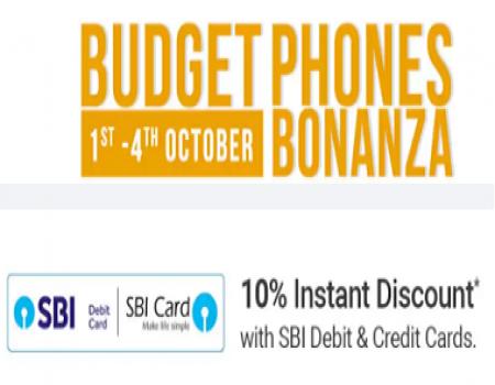 Flipkart Budget Phones Bonanza Offer: Mobiles @Great Discount + Extra 10% Off With SBI Card