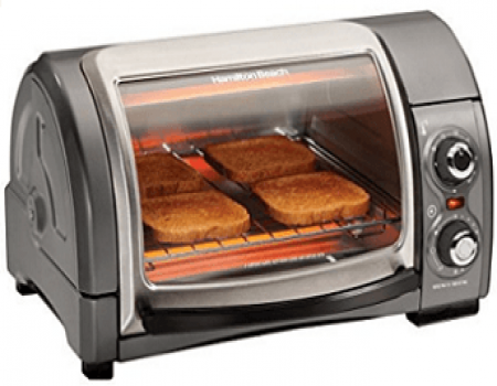 Buy Hamilton Beach 31334-IN 12-Litre 1200-Watt Roll Top Oven at Rs 3,999 from Amazon