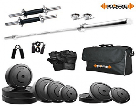 Buy Kore 20KG Combo DD9 Home Gym at Rs 1,749 Amazon