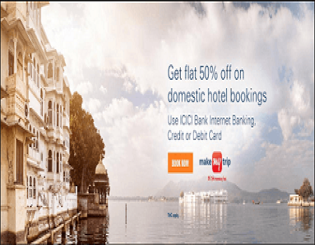 MakeMyTrip Coupons & Offers- Rs 800 Cashback Domestic Booking MMT Offers October 2017