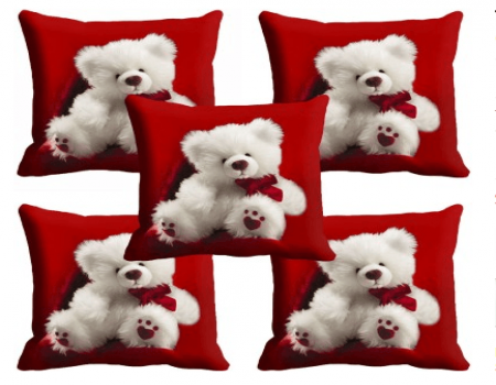 Buy meSleep Abstract Cushions Cover Pack of 5, Multicolor At Rs 399 Only