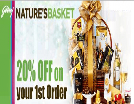 Nature's Basket Coupons & Offers - Get 20% Off On Grocery Gift hampers - May 2018