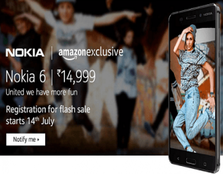 Nokia 6 (Matte Black, 32GB) Mobile On Amazon, Flipkart @ Rs 10,999 Buy Online