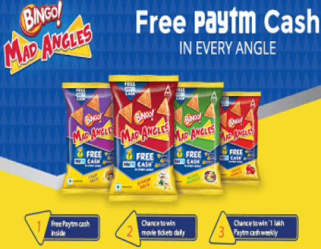 Buy Bingo Mad Angles offer Free Paytm Cash in Every Angle