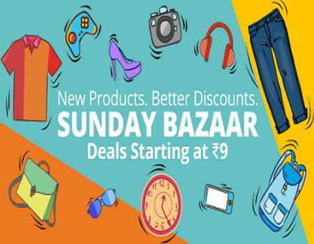 Paytm Sunday Bazaar Sale- Weekend Shopping Starting @ Rs 7 (Super Cashback Sale)