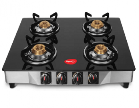 Buy Pigeon Ultra Glass, Stainless Steel Manual Gas Stove (4 Burners) at Rs 2,699 from Flipkart