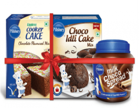 Buy Pillsbury Choco Idli Cake, Cooker Cake milk Chocolate spread at Rs 80 Only