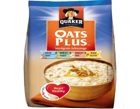Buy Quaker Oats Plus - Multigrain Advantage, 600g at Rs 140 from Amazon