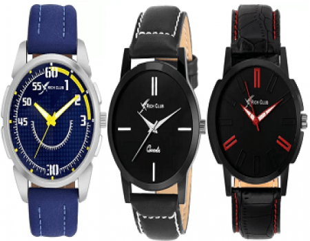Buy Rich-club Wrist Watches from Flipkart starting just at Rs 166 Only