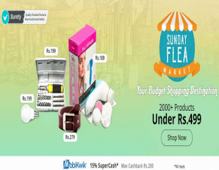 Shopclues Sunday Flea Market Offers Starting at Rs 39 in Feb Sale 2019