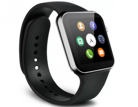 Buy SYL Yezz Andy 5E LTE Silver Smartwatch  (Black Strap Free Size) just at Rs 1,218 on Flipkart