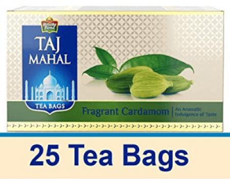 Buy Taj Mahal Fragrant Cardamom Tea Bags 25 Pcs from Amazon at Rs 149 Only