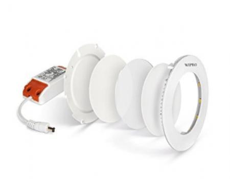 Buy Wipro Garnet Slim 3-Watt Round Panel from Amazon starting @ Rs 319