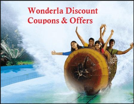 Wonderla Offers Promo Codes: Flat 50% OFF on FLAT 50% OFF on WONDERLA PARKS AND RESORTS in Bengaluru