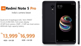 Buy Redmi Note 5 Pro [ 4GB RAM, 64GB ROM ] just at Rs 14,999 Only from Flipkart, Get 10% Instant Discount on SBI Credit Cards