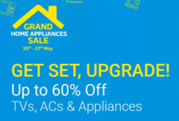 Flipkart Grand Home Appliances Sale 2018: Get Upto 60% OFF on TVs, Refrigerators, Air Conditioners and Appliances