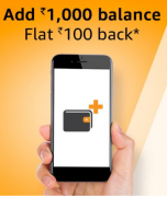 Amazon Pay Balance Offers: Get Rs 100 Cashback On Adding Rs 1000 Amazon Pay Balance [All Users]