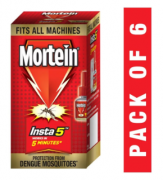 Buy Mortein Insta5 Tulsi Vaporizer Refill (35 ml, Red, Pack of 6) just at Rs 324 from Amazon