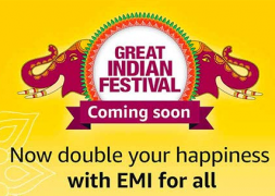 Amazon Great Indian Festival Sale 2018 Offers: Upto 80% OFF On Mobiles, Clothing, Electronics, TV and Appliances + Extra Discount using SBI Debit Card