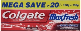 Buy Colgate Maxfresh Spicy Fresh Red Gel Toothpaste - 300 g at Rs. 92 from Amazon