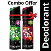 Buy Set Wet Perfume, 120ml (Spunky and Funky Avatar, Pack of 2)  just at Rs 220 From Amazon