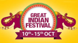 Amazon Great Indian Festival Sale 2018 Offers: Upto 80% OFF On Mobiles, Clothing, Electronics, TV and Appliances + Extra 10% Instant Discount using SBI Debit Card