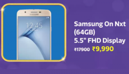 Buy Samsung Galaxy On Nxt (Black, 64 GB, 3 GB RAM) Big Billion Day Price just at Rs 9,990 Only from Flipkart, Get Extra 10% Instant Discount* with HDFC Bank Debit/Credit Cards