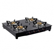 Buy Lifelong Glass Top Gas Stove, 4 Burner Gas Stove, Black (1 year warranty with Doorstep Service) from Amazon just at Rs 2999 only