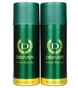 Buy Denver Hamilton Deo Combo Body Spray - For Men  (330 ml, Pack of 2) from flipkart just at Rs 157 only