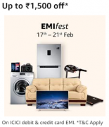 Amazon EMI Fest Offers [17th To 21st Dec]: Get 5% Discount On Electronics,Mobiles and Furnitures Via ICICI Credit/debit Card EMI Transaction
