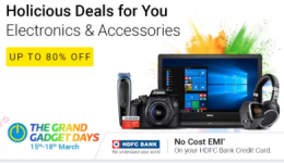 Flipkart The Grand Gadget Days Sale: Get Upto 80% OFF on Gadgets and Best Offers on TV's, Laptops, Camera, Memory cards, Powerbanks and many more