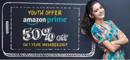 Get 50% OFF on 1 year Amazon Prime membership, Valid Only for Vodafone U Prepaid Customers between the age of 18-24