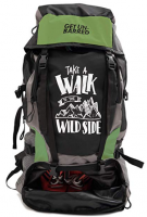Buy Mufubu Presents Get Unbarred 55 LTR Rucksack for Trekking, Hiking with Shoe Compartment - Black/Grassy just at Rs 799 only from Amazon