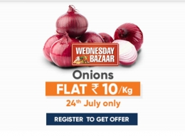 Big Bazaar Wednesday Offer- Register Now and Get Onions just @Rs 10/Kg On 24th July