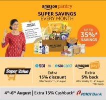 Amazon Super Value Day [1st-7th July 2020] Upto 50% OFF on Grocery, Extra Rs 250 OFF Via ICICI Card