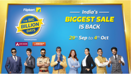 Flipkart Big Billion Days Sale Offers [29th Sept - 4th Oct 2019]: Get Upto 90% Off Mobile, Electronics, Clothing Deals + Extra Axis Bank, ICICI Card Discount