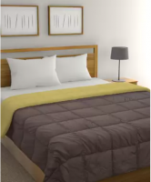 Buy Raymond Home Solid Double Comforter  (Polyester, Brown, Yellow) at Rs 1949 from Flipkart