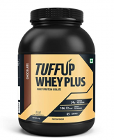 Buy Tuff Up Whey Plus Protein - 2 kg (Chocolate), 24g protein per serving, made from imported whey at Rs 999 only from Amazon