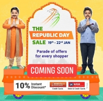 Flipkart Republic Day Sale [19th-22nd Jan 2020]: Get Upto 80% OFF on Branded Clothing,Electronics, Mobiles + Extra 10% instant Discount On ICICI & Kotak Bank Cards