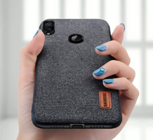 Buy Annure Shockproof Soft TPU Bumper Fabric Back Cover Case for Redmi 7 / Redmi Y3 (Black) at Rs 149 only from Amazon