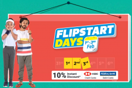 Flipkart Flipstart Days Sale Offers: Upto 80% OFF On Fashion, Electronics & Accessories, Home & Kitchen Appliances, Extra 10% ICICI Bank Discount [1st To 3rd June 2020]