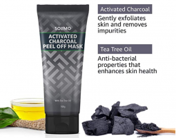 Buy Amazon Brand - Solimo Activated Charcoal Peel-off Face Mask (100g) at Rs 62 from Amazon
