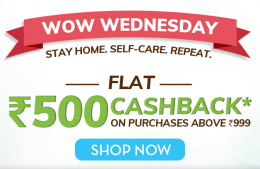 MamaEarth Wow Wednesday OFFER: Flat 40% Cashback on Shopping worth Rs 799 or more