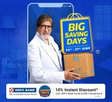 Flipkart Big Saving Days Offers [23rd-27th June] Upto 90% OFF on Mobiles, Electronics Gadgets, Clothing Footwear and more, Extra 10% Bank Discount